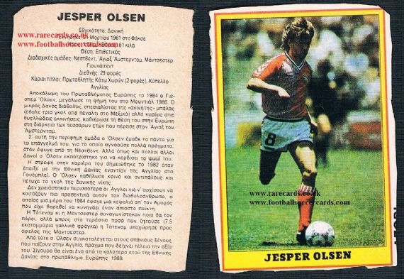 1987 Jesper Olsen Greek packet issue